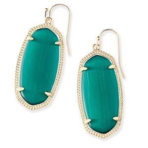 Kendra Scott Elle Earring Emerald NWOT